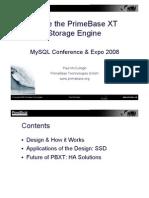 Inside the PBXT Storage Engine Presentation