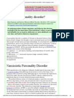 Narcissistic Personality Disorder (NPD)