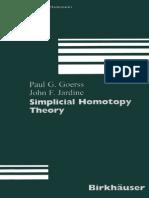 Goerss, Jardine - Simplicial Homotopy Theory