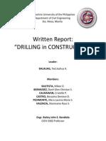 Drilling (Written Report)[1][1]