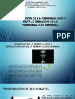 Formación de la Personalidad y Estructuración de la Personalidad Criminal