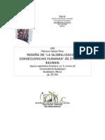 4. Reseña La Globalización Consecuencias Humanas. Bauman (1)