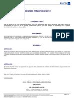 Amplia Competencia Salas Para Jdos Admisi 66295 ACUERDO 32-2012