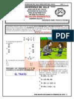 Evalución Diagnóstica Matemática Básica - Contaduría Universidad Del Valle 2015-1