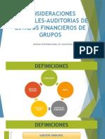 Consideraciones Especiales-Auditorias de Estados Financieros de Grupos