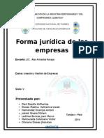 Forma Juridica de Las Empresas