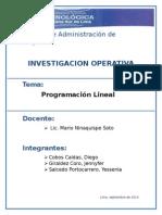 2. Programación Lineal - Planteamiento