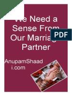 Shaadi We Need Sense