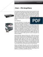 A Class of Its Own – PA Amplifiers