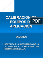 Calibracion de Equipo de Aspersion