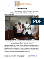 Press Release (AlHuda CIBE Sign Agreement With Islamic Chamber of Commerce)
