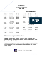 Bell Schedule With Lunches 2014-2015 (1)
