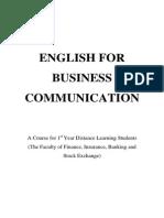 Limba Engleza Si Comunicare de Specialitate 1