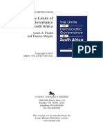 Limits of Democratic Governance in SA