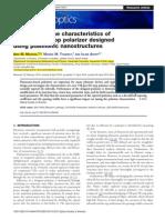 Investigating the characteristics of TM-pass/TE-stop polarizer designed using plasmonic nanostructures