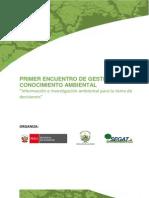 Programa Encuentro de Gestion Del Conocimiento Ambiental - Trujillo
