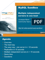 MySQL Sandbox  Easily Using Multiple Database Servers in Isolation Presentation 1