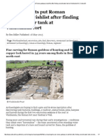 Archaeologists Put Roman Gateway on Wishlist After Finding Ancient Water Tank at Vindolanda Fort