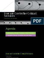 Domain Controller Critical Services