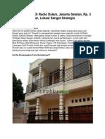 Dijual Rumah Di Radio Dalam, Jakarta Selatan, Rp. 3 Miliar, 12140