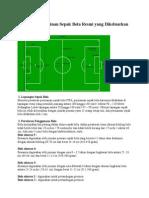 Peraturan Permainan Sepak Bola Resmi Yang Dikeluarkan FIFA