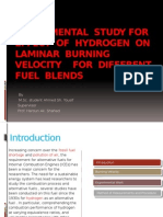 Experimental Study for Effect of Hydrogen on Laminar FLAME SPEED