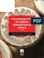 Iranian Ammunition Distribution in Africa