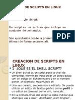 Creacion de Scripts en Linux