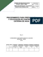 Procedimiento Para Colocacion de Concreto en Cisterna de Agua