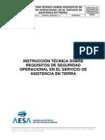 Instrucción técnica sobre requisitos de seguridad operacional en el servicio de asistencia en tierra