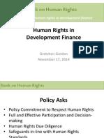 1. Human Rights in Development Finance