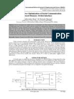 Analysis of Power Optimization of Serial Communication Protocol-Memory–Switch Interface