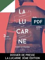 Festival la Lucarne - Dossier de Presse 2015