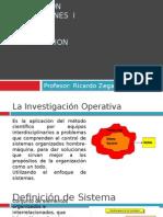 Investigacion de Operaciones i - Introduccion