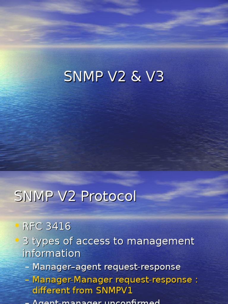 SNMP V2 AND V3 | Information Technology Management | Network