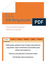 2.1.1 SNI Pengukuran