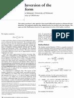 1994 Mathematica Laplace Inv