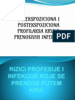 Preekspoziciona i Postekspoziciona Profilaksa Krvno Prenosivih Infekcija