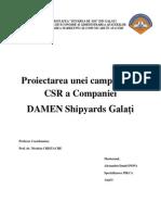 Campanie de CSR DAMEN Galati