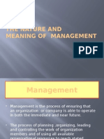 The Nature and Managment