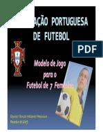Modelo futebol 7 feminino