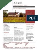 Bulletin - May 31, 2015