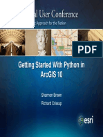 Getting Started With Python in Arcgis Feduc2011