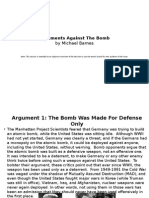arguments for and against the bomb2