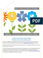 Errores en Social Media Agropecuario