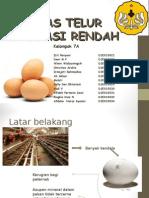Kualitas Telur Konsumsi Rendah
