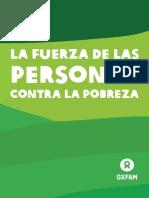 La fuerza de las Personas contra la Pobreza
