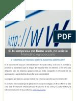Si Tu Empresa No Tiene Web No Existe. Marketing Agropecuario