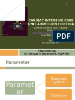 Cardiac Intensive Care Unit Admission Criteria