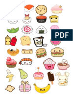 Stickers Kawaii Food